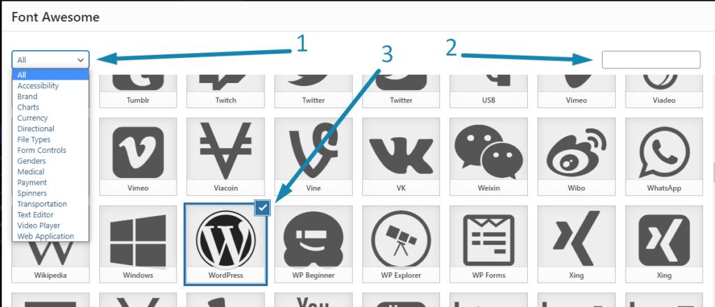 Как добавить иконки в меню WordPress