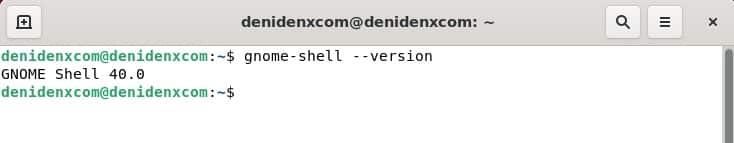 Gnome shell 40.0